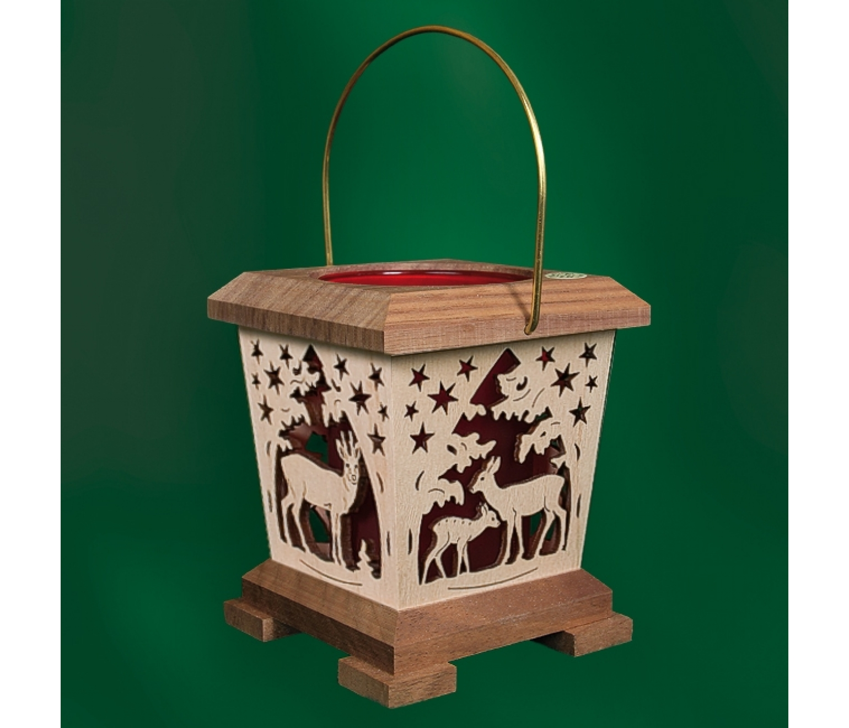 laterne teelicht amerikanischer nussbaum rot im wald tietze. Black Bedroom Furniture Sets. Home Design Ideas