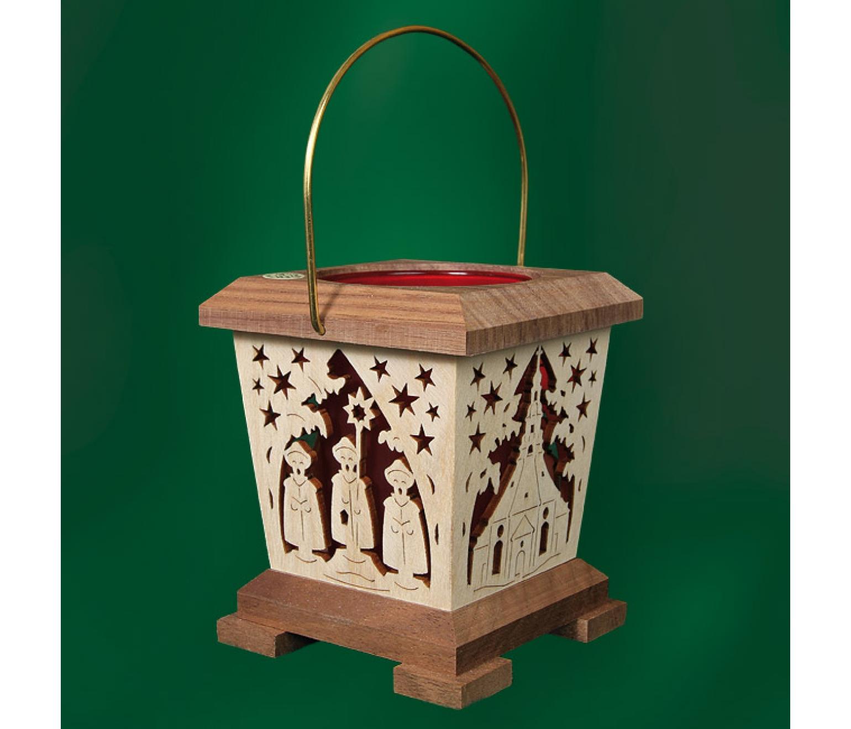 laterne teelicht amerikanischer nussbaum rot seiffen tietze. Black Bedroom Furniture Sets. Home Design Ideas
