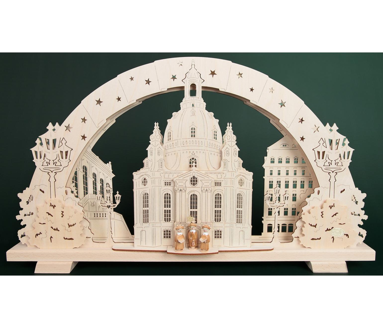 schwibbogen mehrschicht dresdener frauenkirche 53 cm tietze erzgebirgische. Black Bedroom Furniture Sets. Home Design Ideas